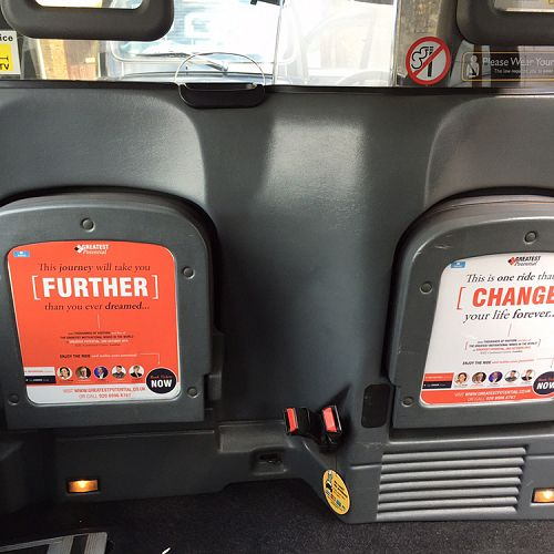 Greatest Potential taxi campaign – London