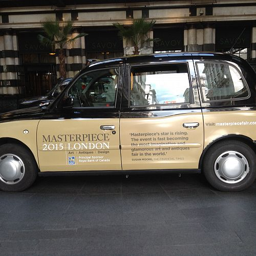Masterpiece taxi campaign – London