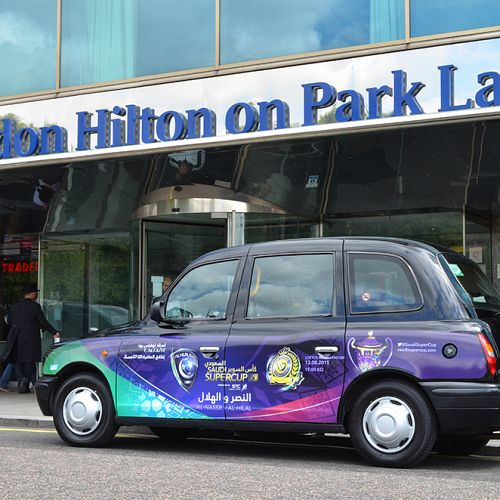 Saudia Arabia Super Cup taxi campaign – London