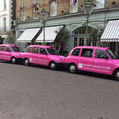 Shoptiques taxi campaign – London