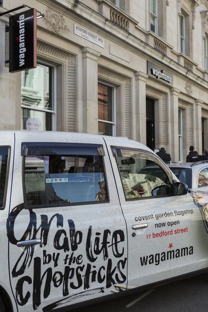 Wagamama leaves no customers behind as it opens its new Covent Garden restaurant.