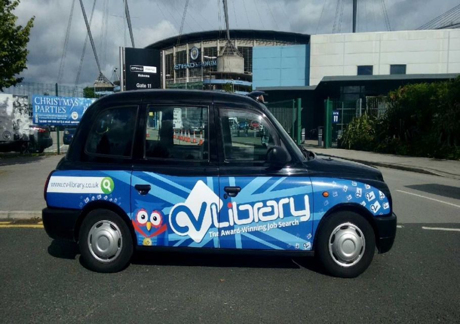 Taxi advertising for CV Library