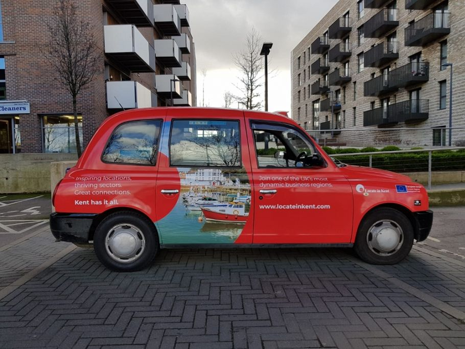 Locate in Kent promotes inward investment with London taxi campaign
