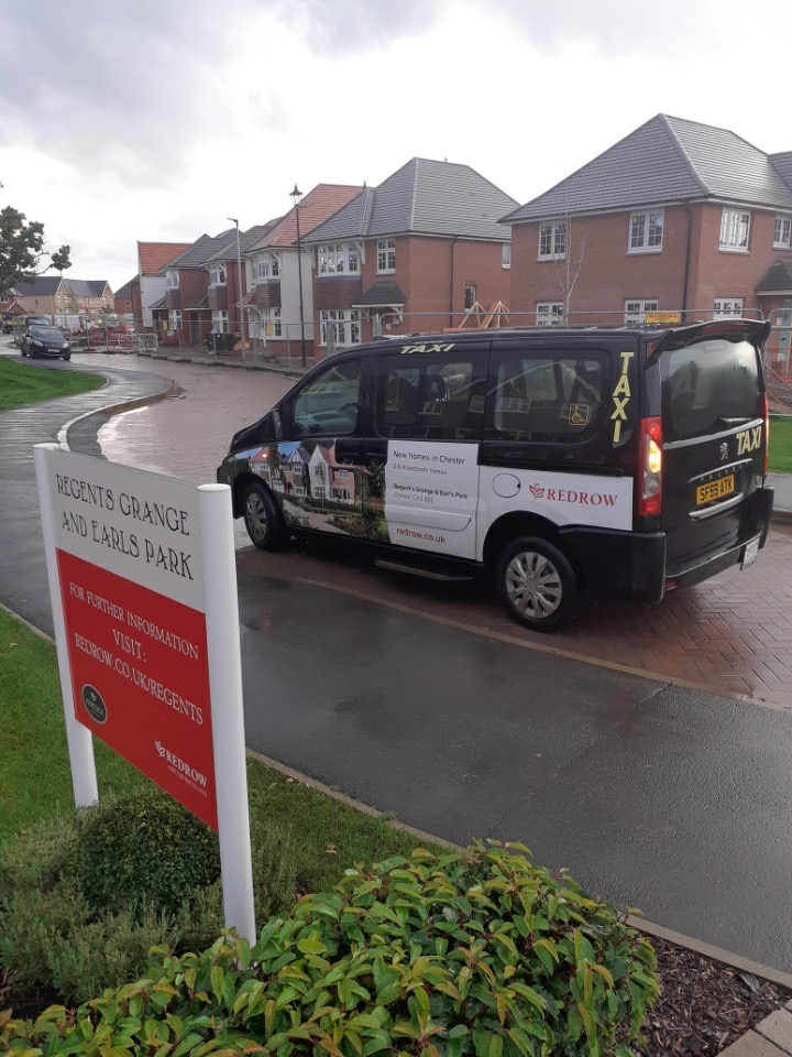 New taxi campaign in Chester for Redrow Homes