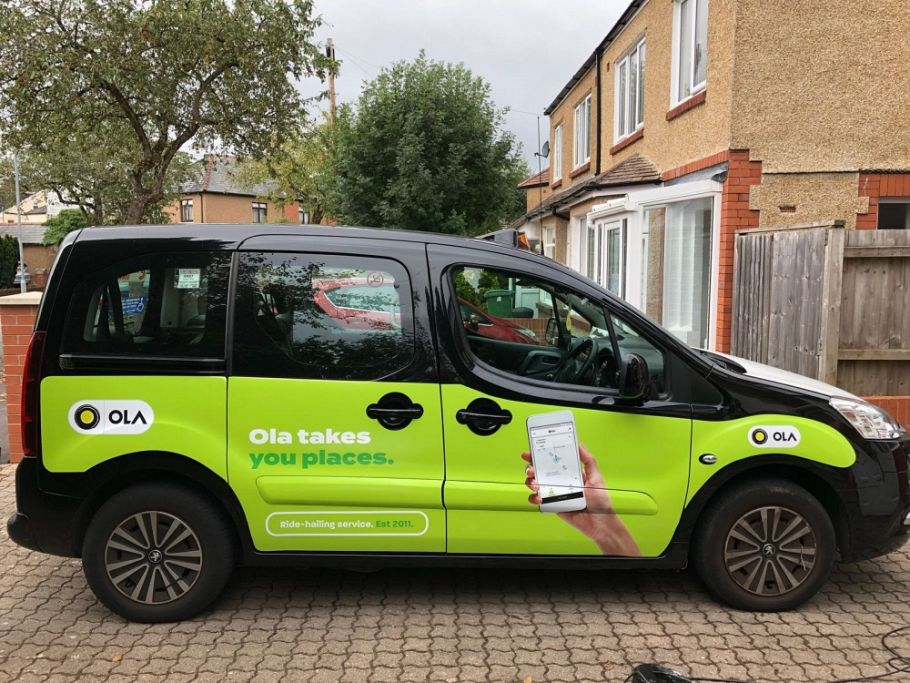 Black Cab Advertising helps with the launch of Ola in Cardiff